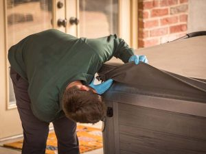bamboo employee providing pest prevention services to a home in Fort Wayne, Indiana